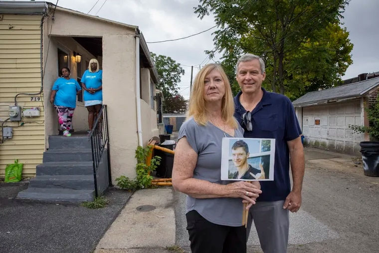 Larry and Heather Arata lost their son Brendan to addiction in 2017. They established the Opioid Crisis Action Network to advocate for and assist people trying to leave addiction behind. At a sober living house in Chester are Tyesha Soto (left, in the doorway) and Tashina Wright.