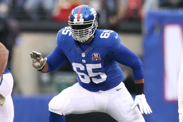 Giants offensive lineman Will Beatty in action against the 49ers in November 2014.