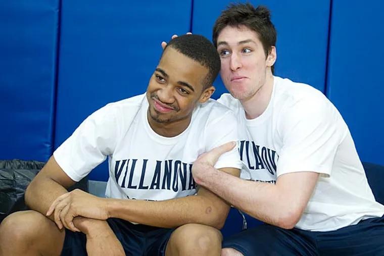 Villanova's Ryan Arcidiacono clowns around with Phil Booth. (Charles Fox/Staff Photographer)