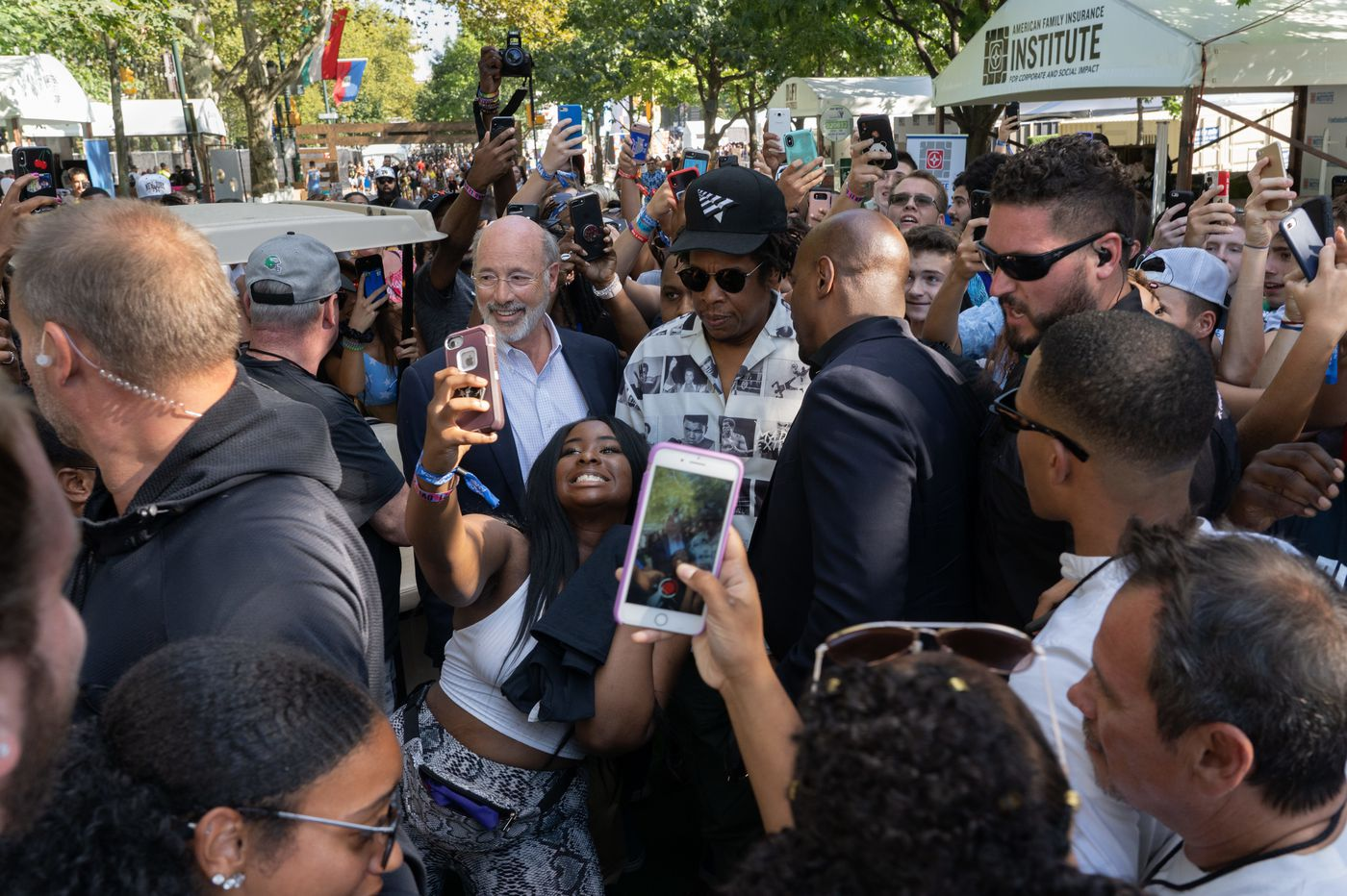Gov. Tom Wolf hung out with Jay-Z at Made in America