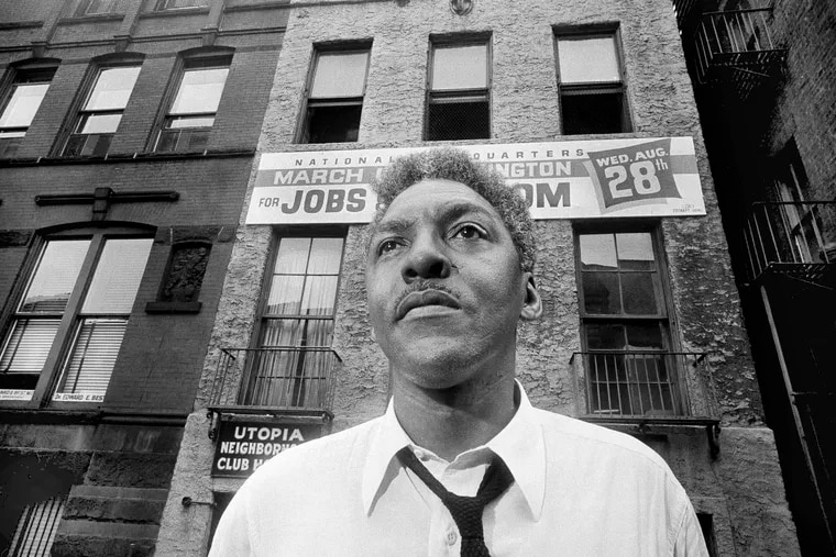 In this Aug. 1, 1963, file photo, Bayard Rustin, leader of the March on Washington poses in New York City. California's governor announced Wednesday that he was posthumously pardoning Rustin, a gay civil rights leader, while creating a new pardon process for others convicted under outdated laws punishing homosexual activity.