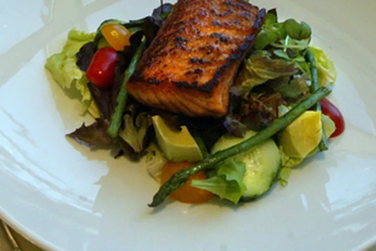 Salmon Chopped Salad For One.