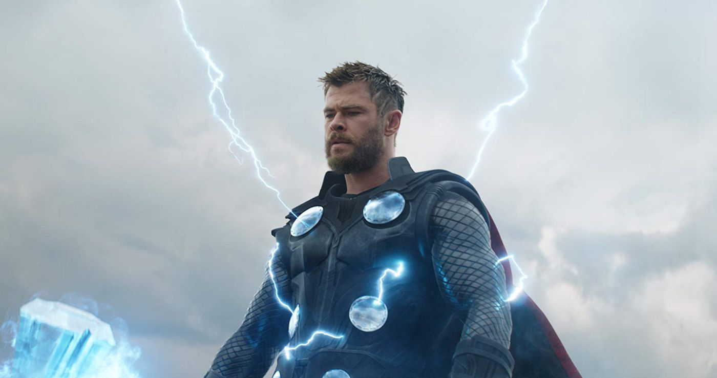 "Chris Hemsworth as Thor in ""Avengers: Endgame."""