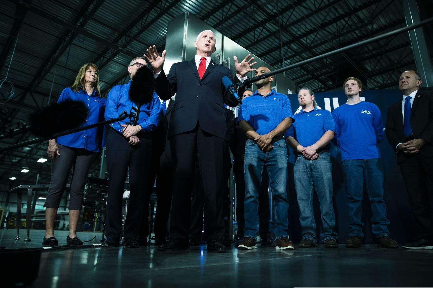 VP Mike Pence visits Pa., urging Republicans to help deliver the state for Trump again