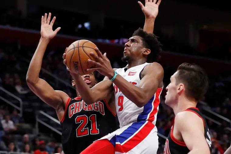 Detroit Pistons guard Langston Galloway (9) is averaging 10.4 points while shooting 39.9% on three-pointers as a reserve guard for the Pistons.
