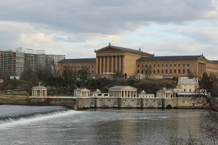 Photo illustration provided by KSK Architects showing the placement of the proposed James Turrell installation at the Philadelphia Museum of Art.