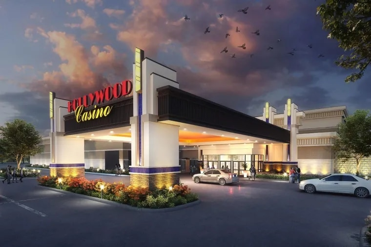 Artist rendering of Hollywood Casino York, the mini-casino Penn National Gaming is set to open Thursday Aug. 12 at the York Galleria Mall in Springettsbury Township. (Credit: Penn National Gaming Inc.)