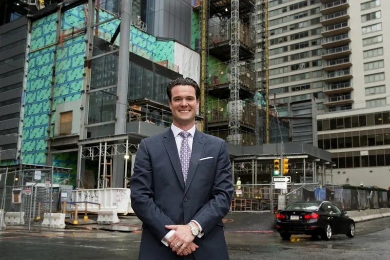 Ben Shank outside the  new Comcast Corp. tower. Four Seasons appointed the Lower Merion native the general manager of the hotel to be in the tower.