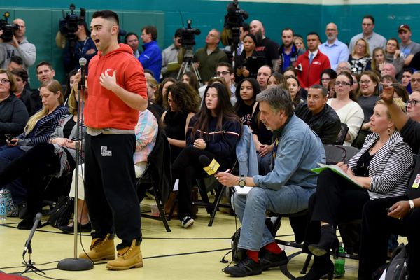 Cherry Hill East students protest teacher's suspension for Parkland school shooting comments