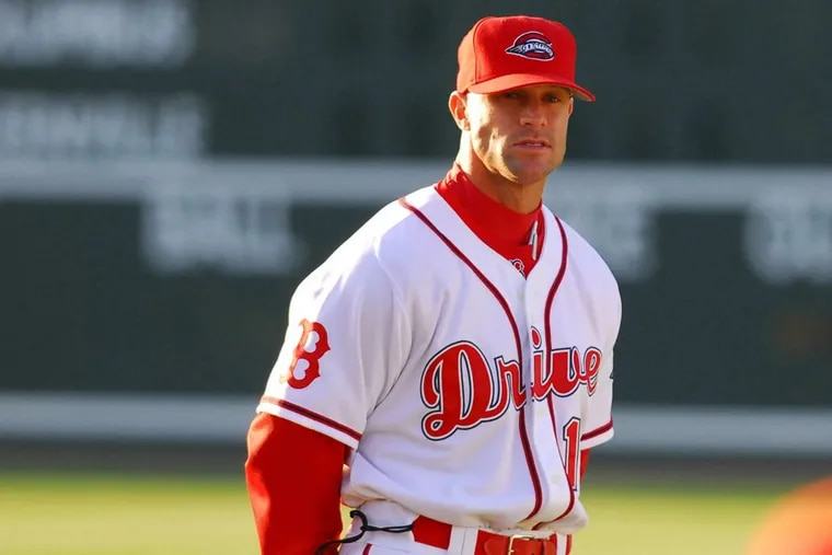 New Phillies manager Gabe Kapler in charge of the minor league Greenville Drive back in 2007.