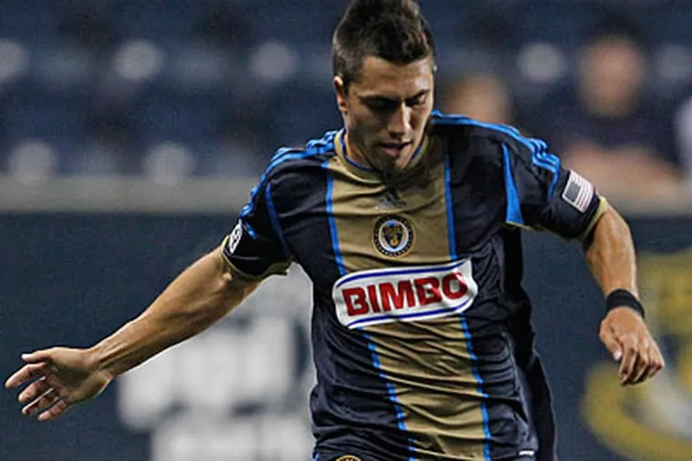 Michael Farfan scored in stoppage time to give the Union their first road win since April 29. (Ron Cortes/Staff file photo)