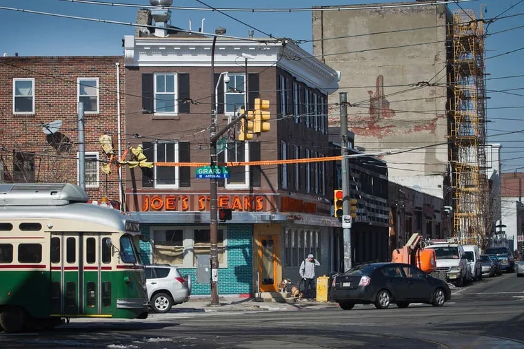 The neighborhood: Frankford Avenue looking north above Girard Avenue in Fishtown. Construction is a familiar sight.