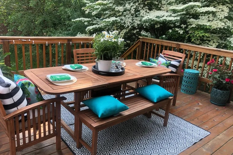 An example of a backyard oasis designed by Rasheeda Gray of Gray Space Interiors