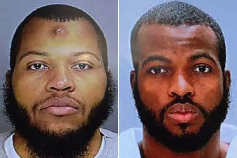 Carlton Hipps (left) and his brother Ramone Williams were charged with murder in the March 5, 2015, fatal shooting of Philadelphia Police Officer Robert Wilson III at a North Philadelphia GameStop.