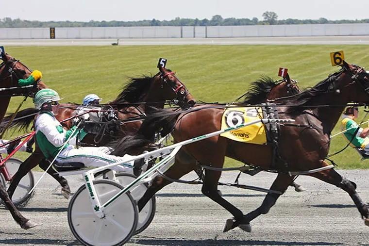 Horses Race at Chester Downs Race Track in Chester, June 12, 2008. (Jessica Griffin / Philadelphia Daily News)