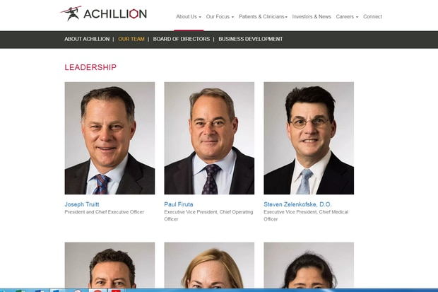 Achillion Pharma moves HQ to suburban Philly from New England; CEO says it's easier to recruit here