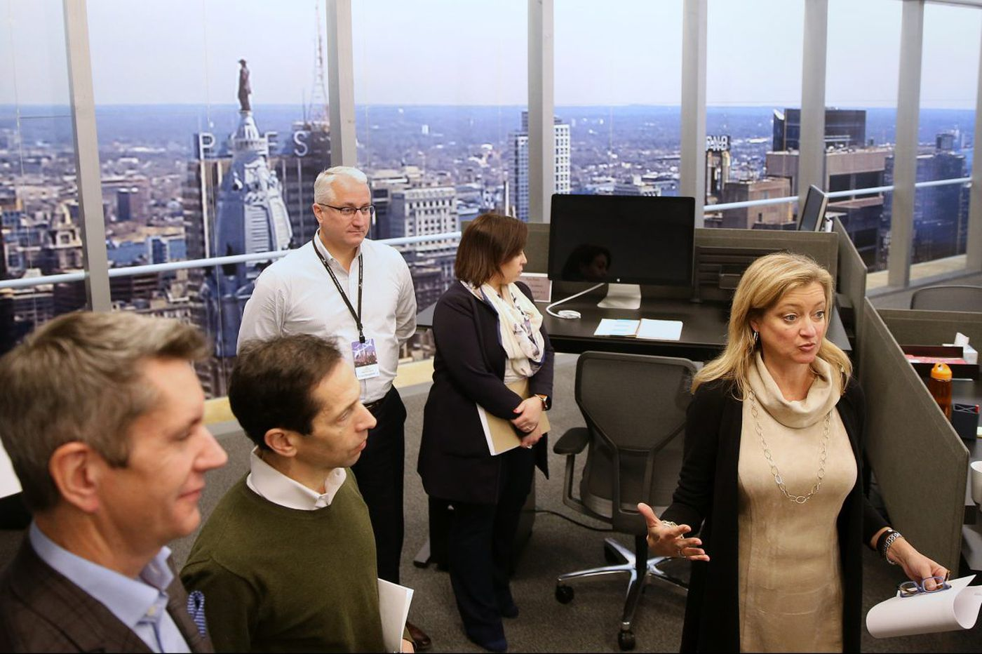 Comcast tests out its new 60-story tower in converted Horsham office complex