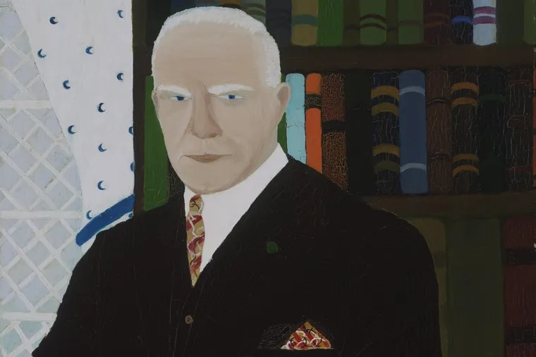 """Detail from Horace Pippin's 1940 painting, """"Chester County Art Critic (Portrait of Christian Brinton)"""""""