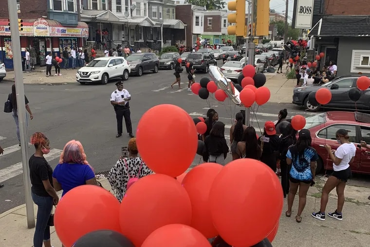 A memorial was held in Aamir Johnson-Daye's honor at 59th and Master Streets on Wednesday.