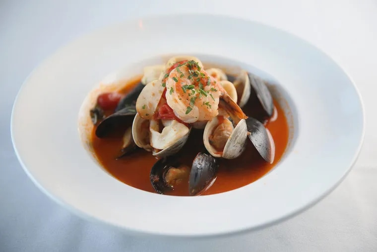 Seafood with a view: the zuppa di pesce from La Finestra in Sea Isle City.
