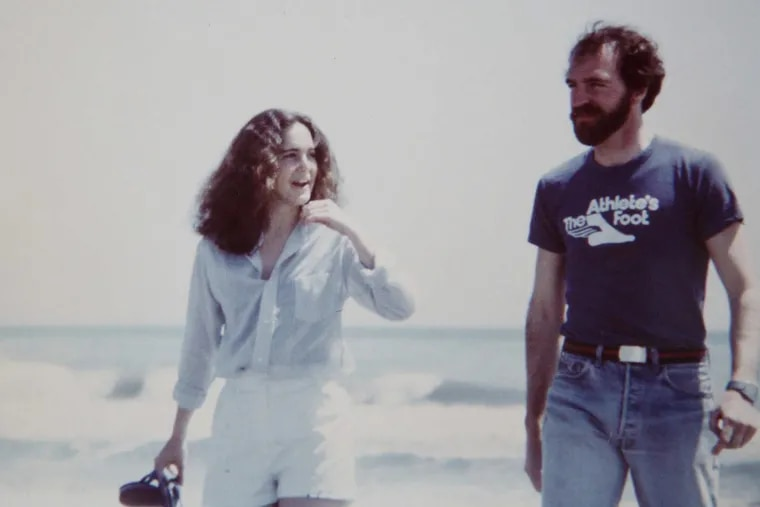 Annette DeMichele and Larry Wittig on a New Jersey beach in the early 1980s.