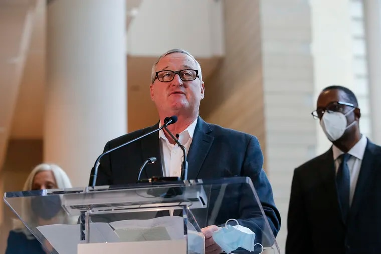 Philadelphia Mayor Jim Kenney at the Pennsylvania Convention Center on Nov. 6, 2020.