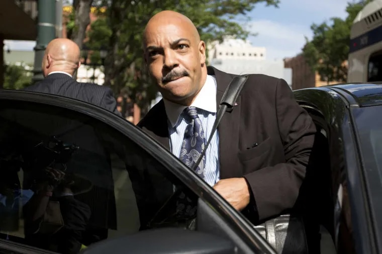 District Attorney Seth Williams leaves the Federal Courthouse in Philadelphia after the first day of his corruption trial Tuesday, June 20, 2017.