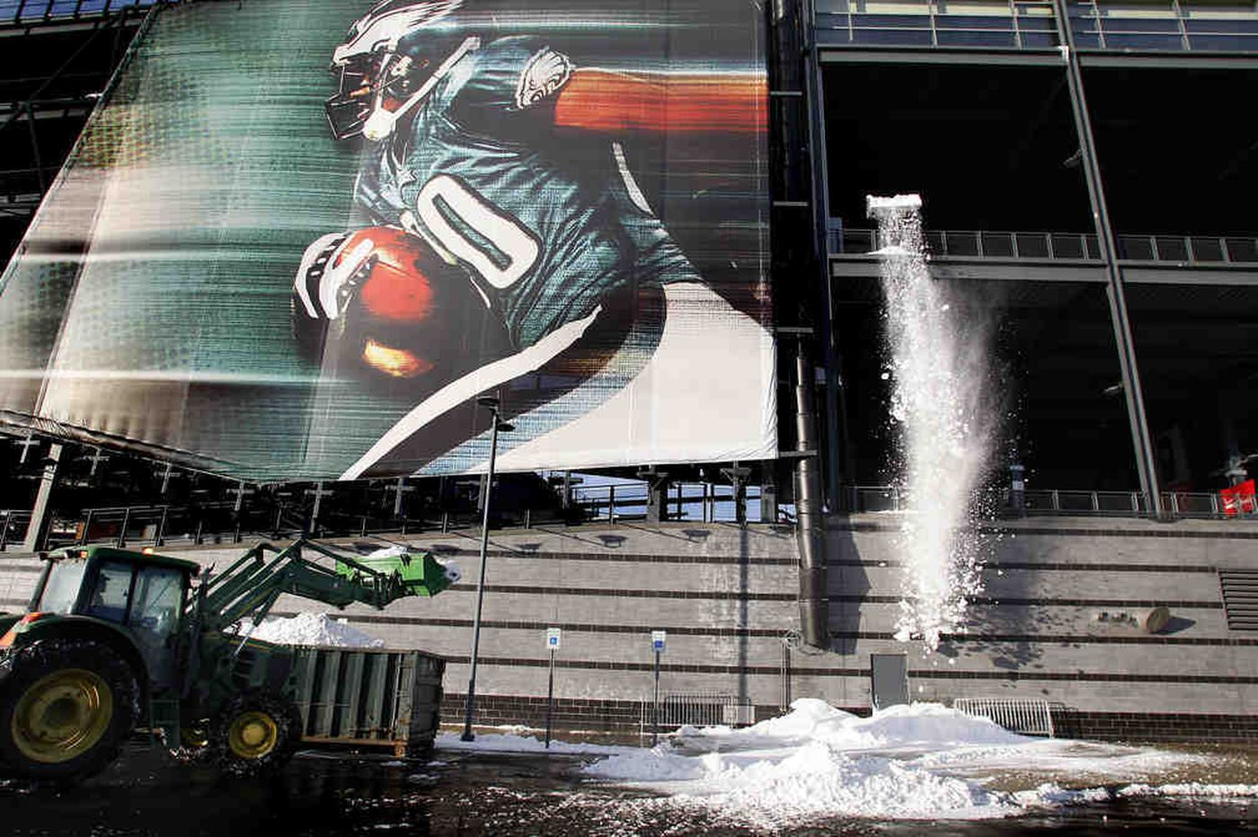 Eagles' big dig on schedule