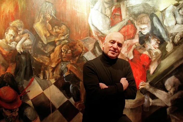 """David Carroll in his bar, """"Bar Noir,"""" in 1999."""