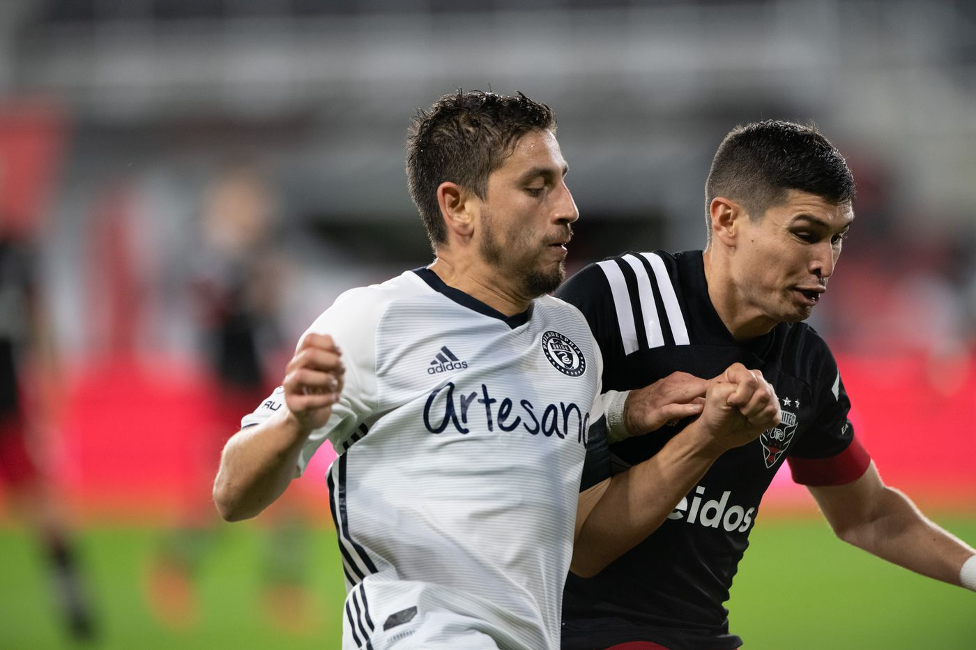 Alejandro Bedoya and Kacper Przybylko stood out in the Union's tie at D.C., and not always for good reasons