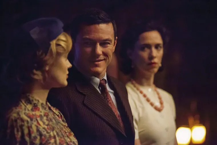 From left, Bella Heathcote stars as Olive Byrne, Luke Evans as Dr. William Marston and Rebecca Hall as Elizabeth Marston in 'Professor Marston and the Wonder Women.'