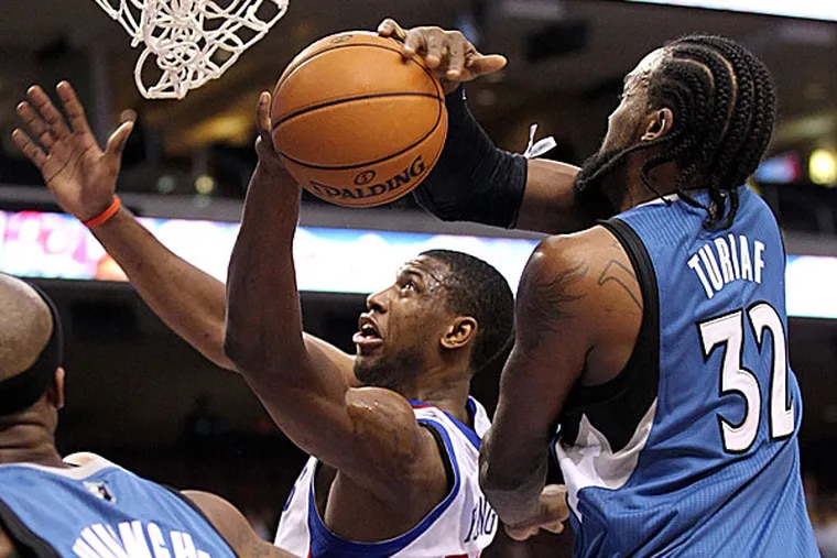 The Sixers' Thaddeus Young. (Yong Kim/Staff Photographer)