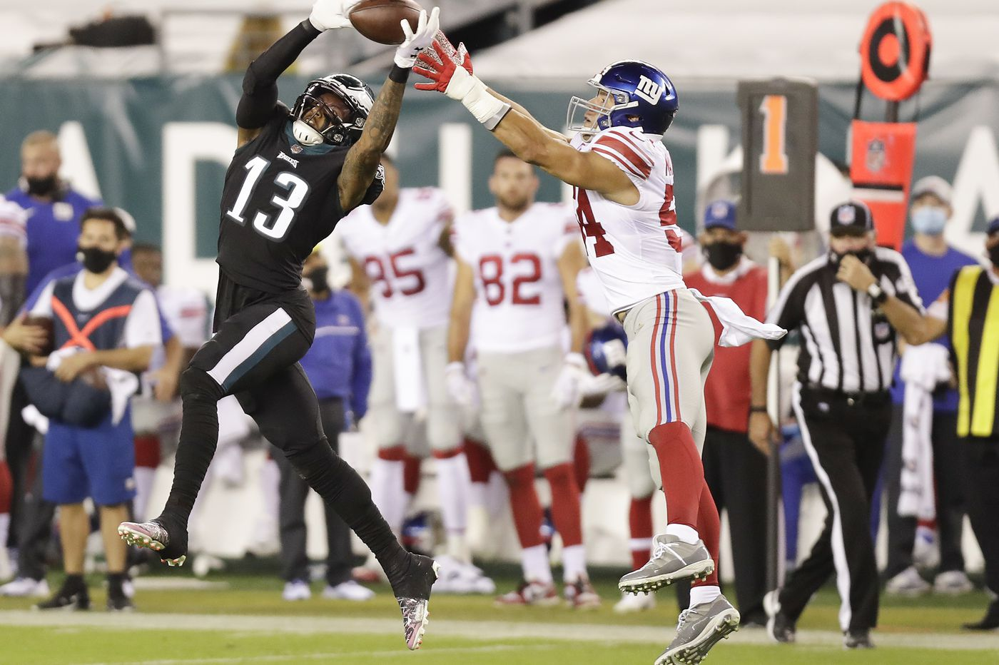 Eagles' Travis Fulgham says that so far, defensive attention hasn't gotten 'too crazy'