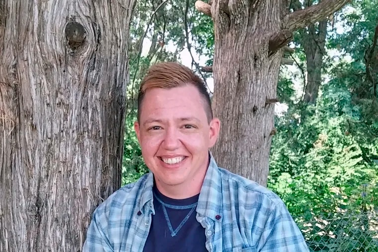 This photo provided by the American Civil Liberties Union shows former Iowa prison nurse Jesse Vroegh. An Iowa jury on Wednesday, Feb. 13, 2019, ruled that a warden discriminated against Vroegh, who is transgender, by refusing to let him to use men's bathrooms and locker rooms at work. The verdict is the first of its kind in Iowa. (Veronica Fowler / ACLU of Iowa via AP)