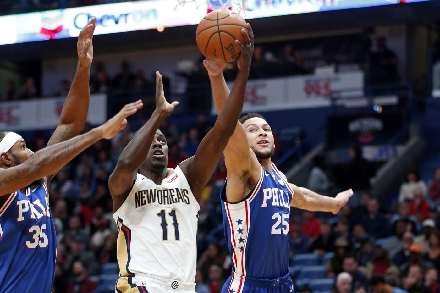 Joel Embiid a late scratch in Sixers' loss to Pelicans