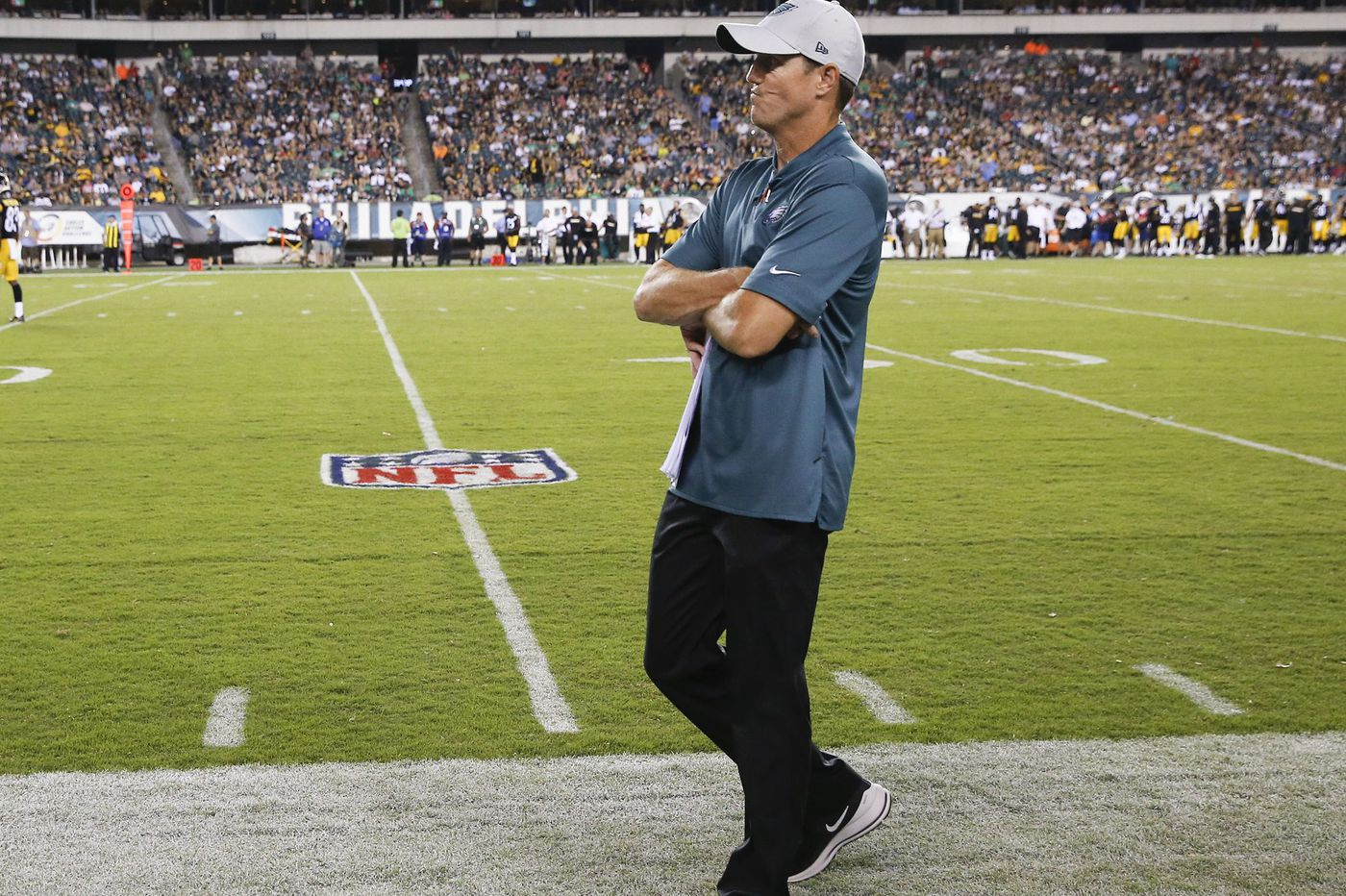 Eagles' Dave Fipp encouraged, patient with new kickoff rules