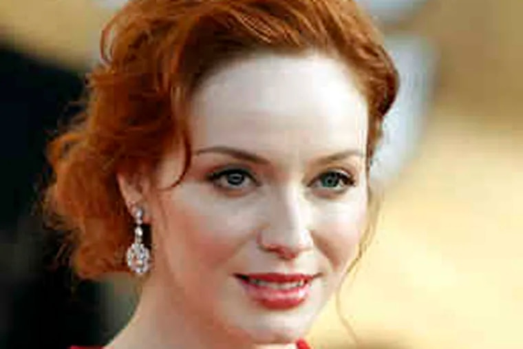 """Christina Hendricks (above) will be wearing a """"dream gown."""""""