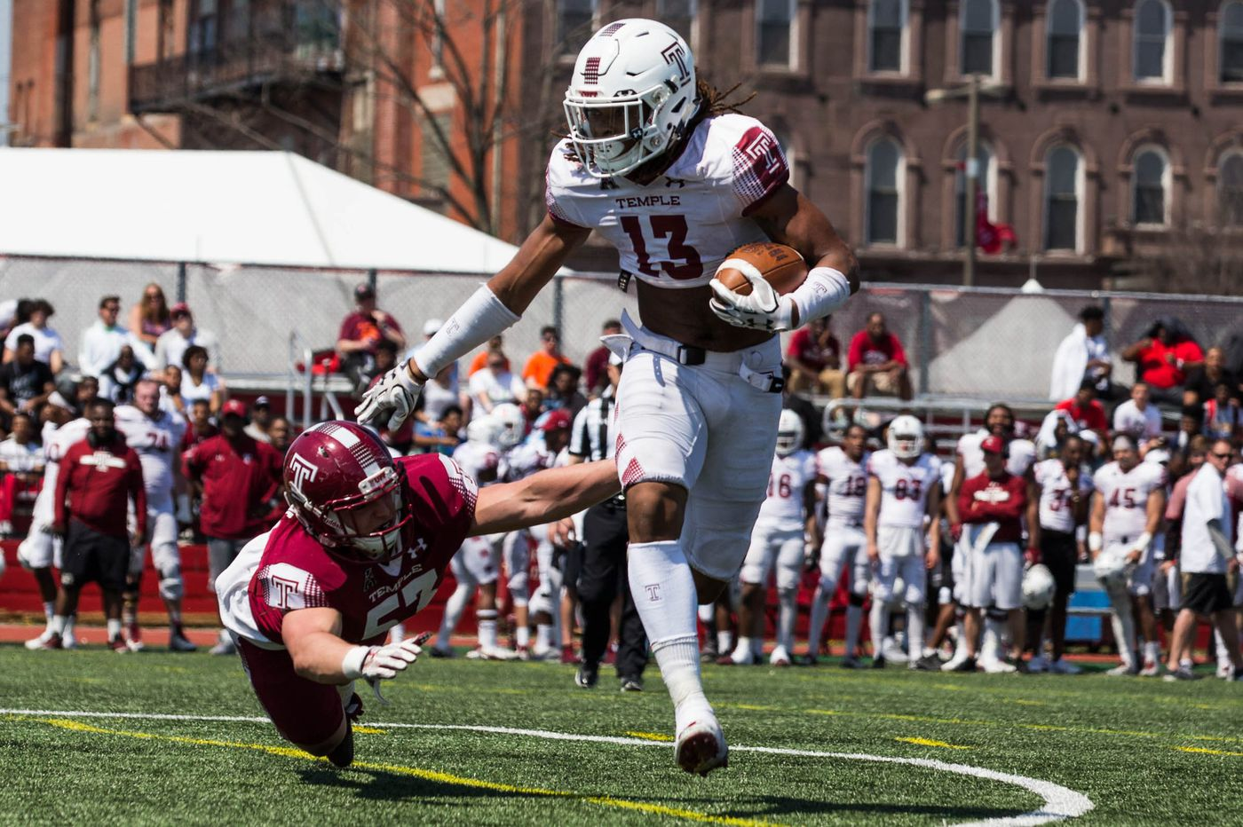 Temple football heads off campus to closed practice at Franklin Field