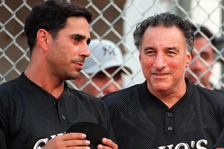 "Joseph Ligambi (right) and Joseph S. ""Skinny Joey"" Merlino in 1998. (File photograph)"