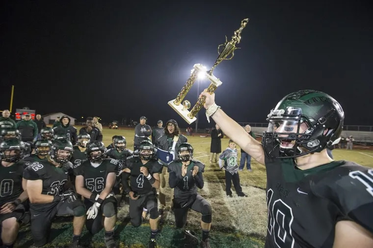 Pete Orio of West Deptford hopes to bring home more hardware when the Eagles play Haddonfield in the S.J. 2 title game on Sunday at Rowan University.