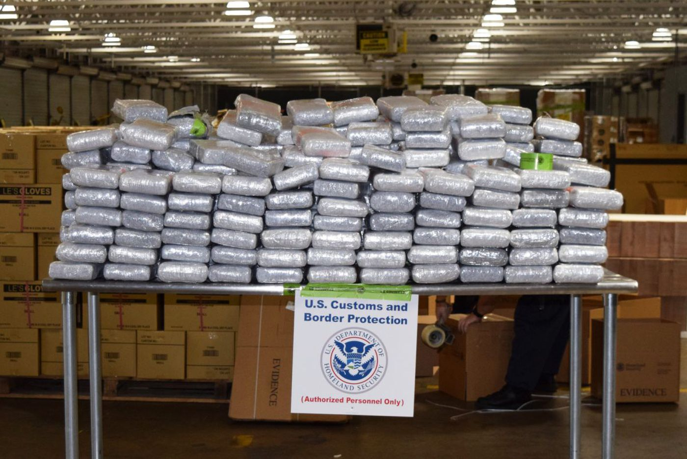709 pounds of cocaine seized at Port of Philadelphia facility - the largest haul in 10 years