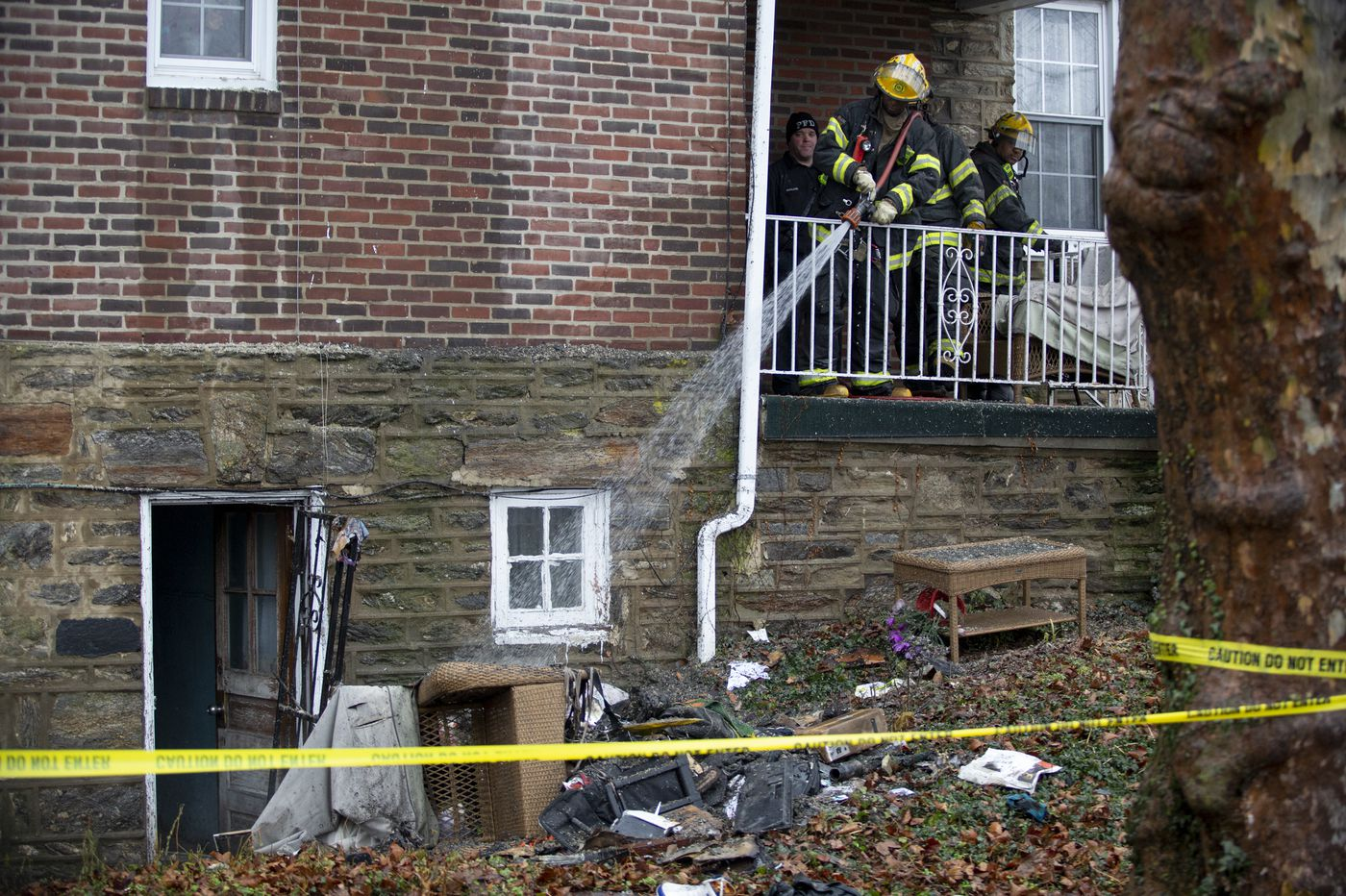 Police save man from burning Fern Rock home