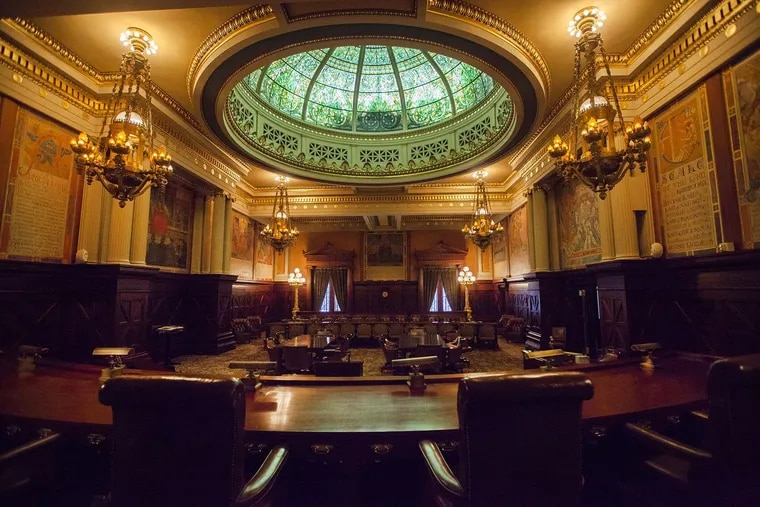 Five cases pending before the Pennsylvania Supreme Court, shown here, seek to upend the state's sex offender registry law as well as the public website listing offenders, which is accessed by millions of people every year.