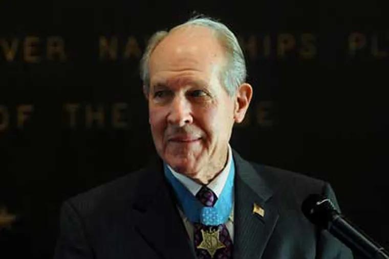 Medal of Honor recipient retired Capt.Thomas J. Hudner, Jr. in 2008.