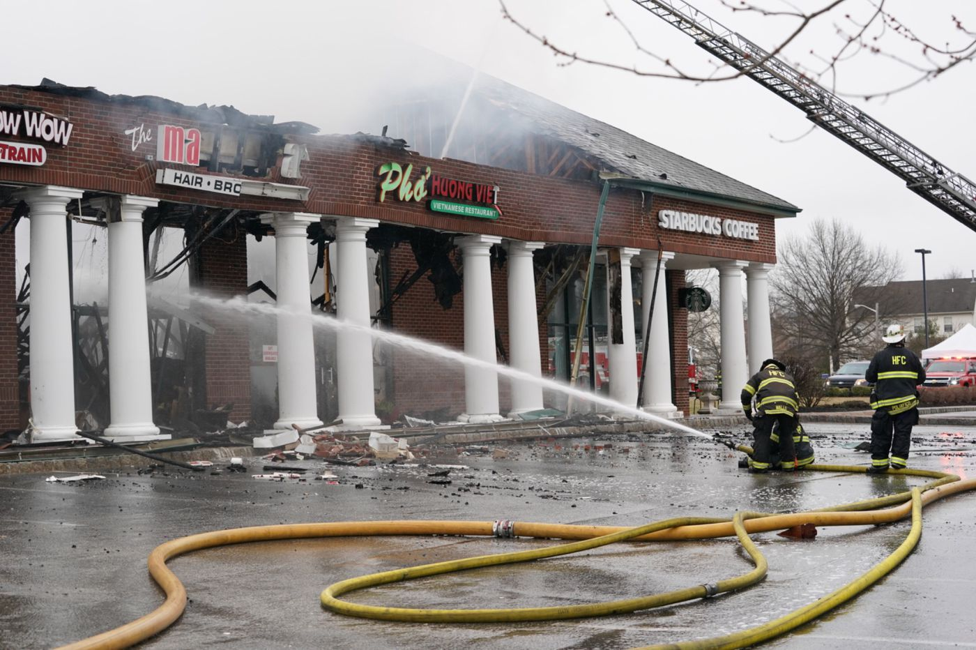 Stores catch fire at Cherry Hill strip mall, blaze under control