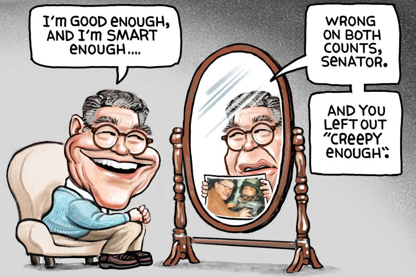 What 7 top political cartoonists think about Al Franken and Roy Moore