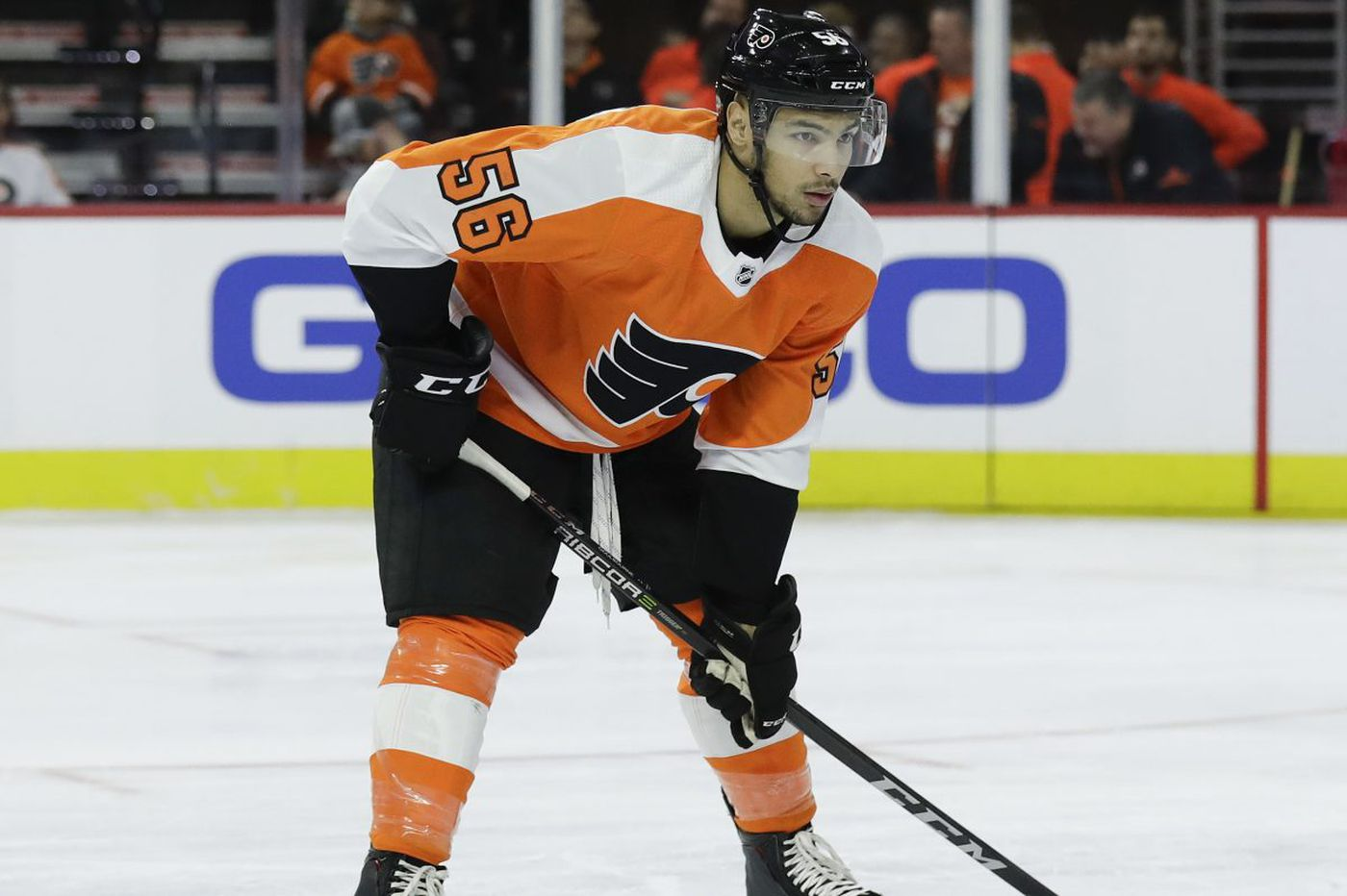 Flyers rookie Tyrell Goulbourne returned to Phantoms after his hit debut