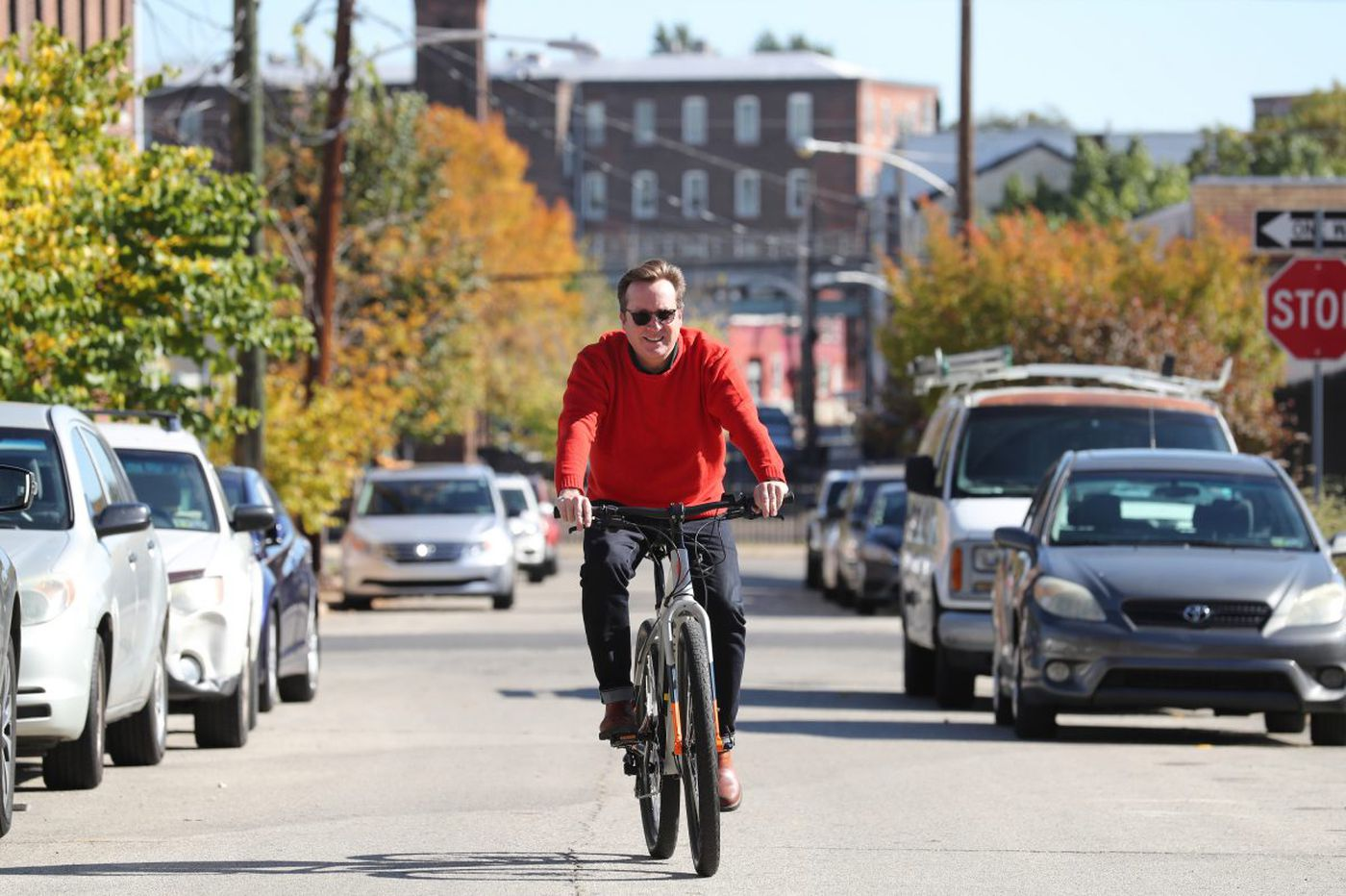 At 55, he's not too old to ride bikes - or to start a company that makes them