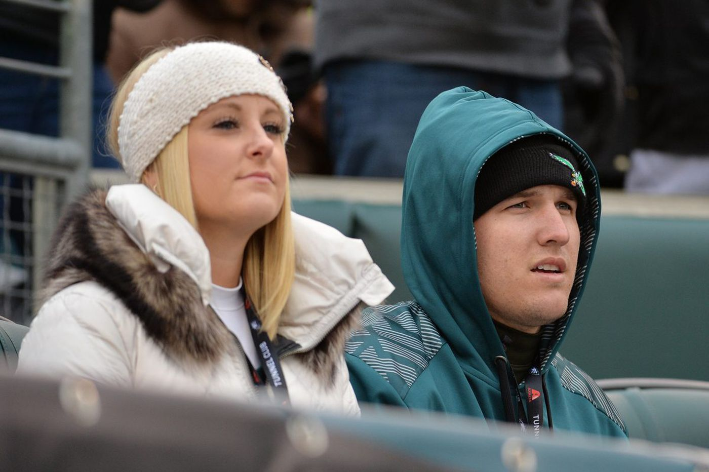 Mike Trout's wife is sick of his texts about snow and cold weather