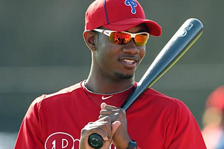 """""""We have to bring him at the right time for us,"""" Ruben Amaro Jr. said about Domonic Brown. (Yong Kim/Staff file photo)"""